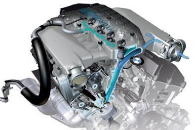 Il motore della Bmw Hydrogen 7