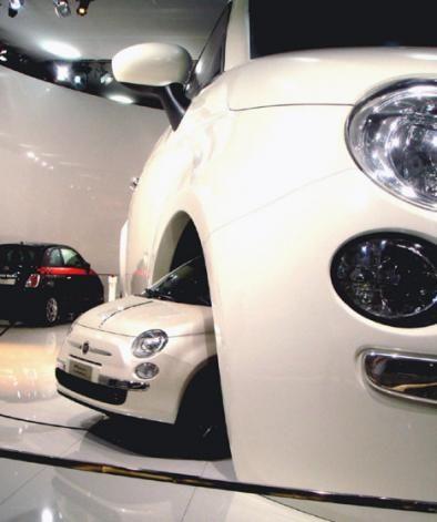 La Fiat 500 gigante a Francoforte