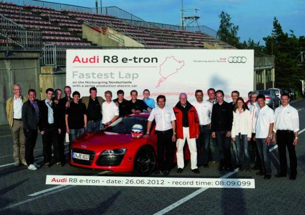 Audi R8 e tron, Nurburgring