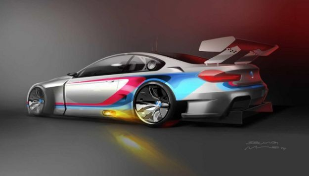 BMW M6 GT3 2016 posteriore