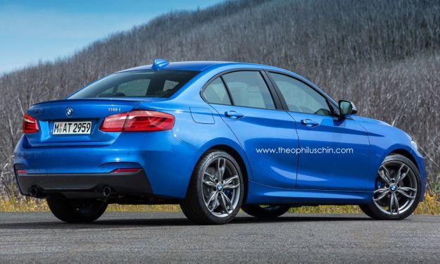 BMW Serie 1 Sedan 2015 rendering