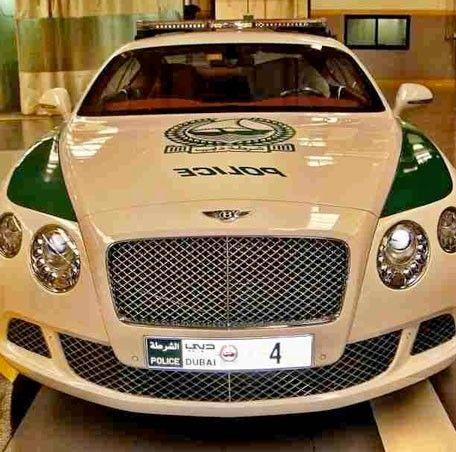 Bentley Continental GT Polizia Dubai