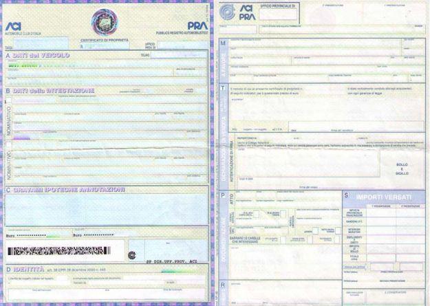Certificato di proprietà auto