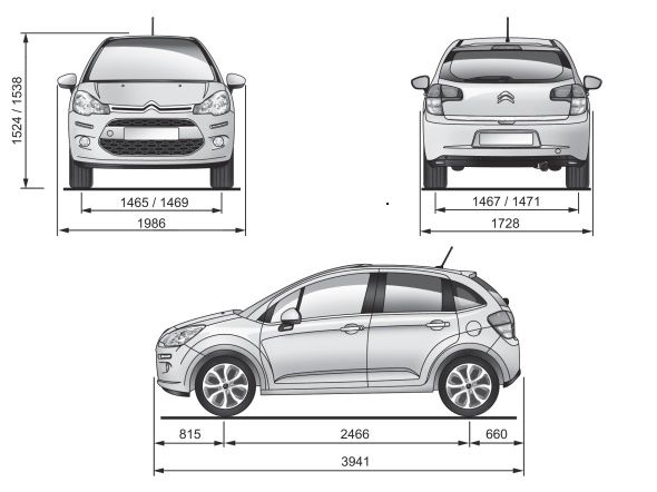 Nuova citroen c3 2013 prova su strada foto e video for Una dimensione del garage per auto