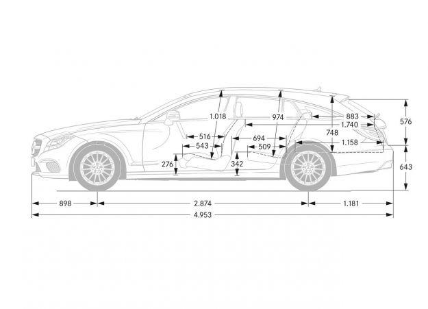 Dimensioni Mercedes CLS Shooting Brake