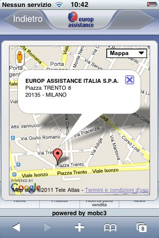 Europ Assistance Roadside Assistant iphone