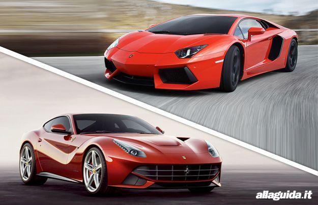 Ferrari F12 Berlinetta vs Lamborghini Aventador LP 700 4