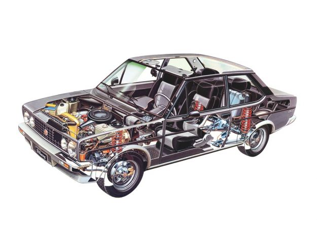 Fiat 131 Racing 1978 meccanica