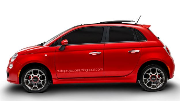 Fiat 500 5 porte rendering
