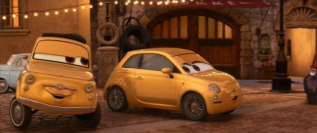 Fiat 500 film Cars 2