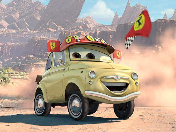 Fiat 500 nei film Cars Luigi