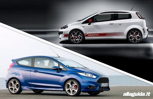 Ford Fiesta ST 2013 vs Abarth Punto Evo