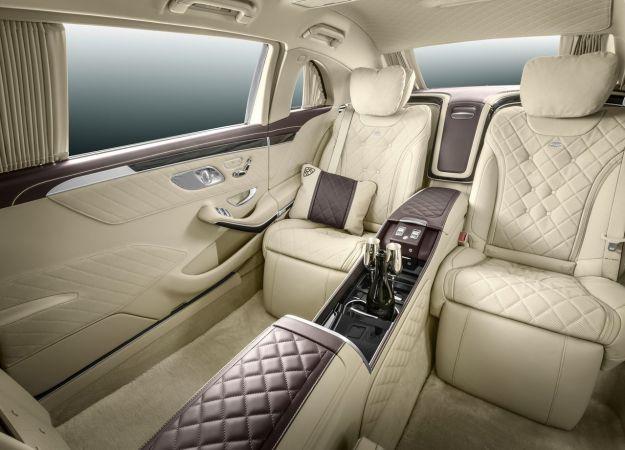 Interni di Mercedes S600 Pullman Maybach