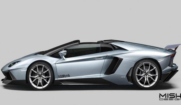Lamborghini Aventador tuning Misha design, fiancata