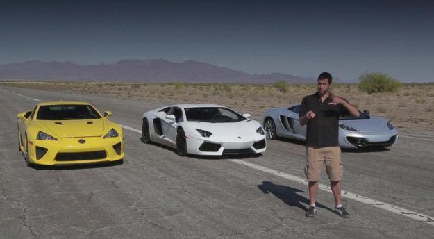 Lexus LFS vs Lamborghini Aventador vs McLaren MP4 12C
