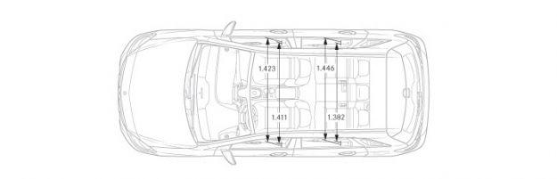 Mercedes Classe B dimensioni dall'alto