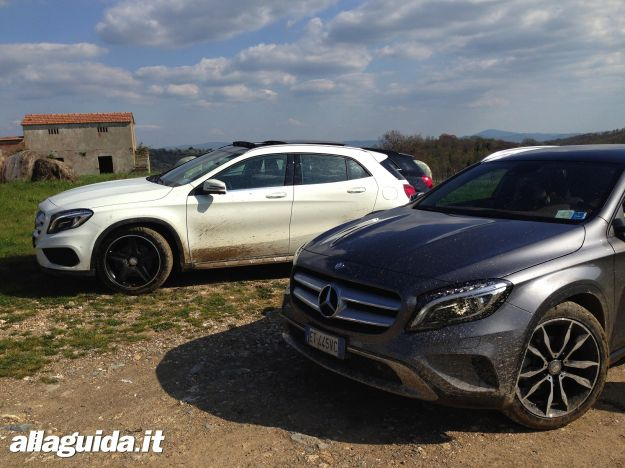 Mercedes GLA su sterrato