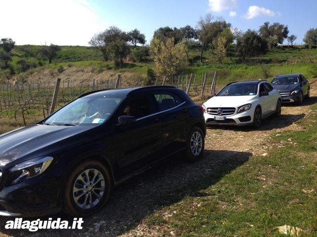 Mercedes GLA vari esemplari