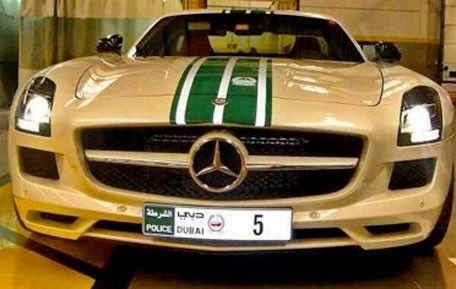Mercedes SLS Polizia Dubai