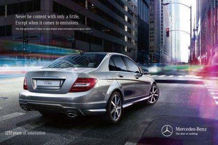 Mercedes classe c pubblicita retro