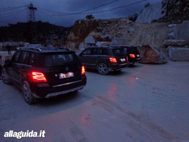 Nuova Mercedes GLK 2012 al buio