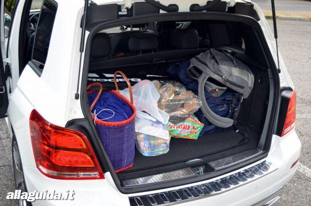 Nuova Mercedes GLK bagagliaio