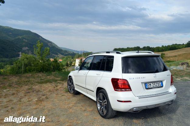 Nuova Mercedes GLK 2012 lato posteriore