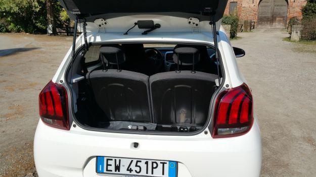 Nuova Peugeot 108 bagagliaio