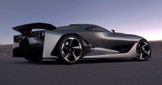 Posteriore della Nissan Concept 2020 Vision Gran Turismo
