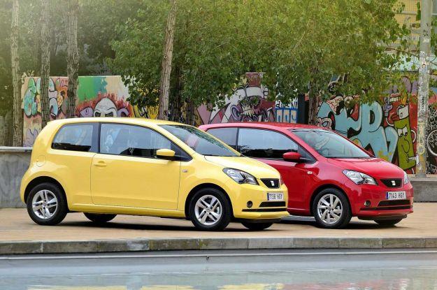 Seat Mii 3 porte gialla e rossa