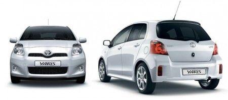 Toyota Yaris fronte retro