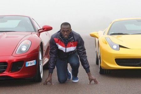 Usain Bolt a Maranello con le Ferrari