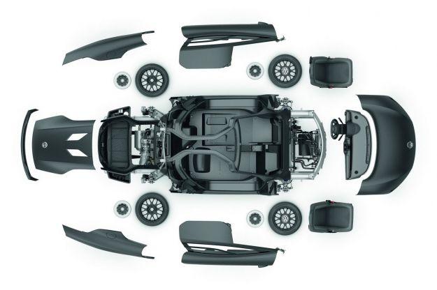 Volkswagen XL1 Plug in Hybrid fibra di carbonio
