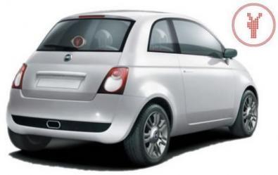 allaguida.it - Fiat 500 con emoticon sul lunotto