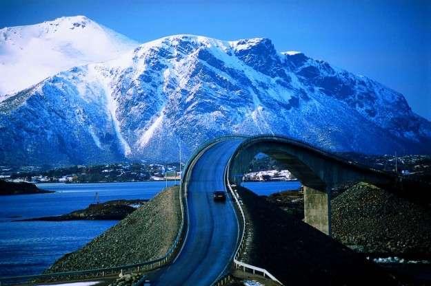 atlantic road ghiacciaio