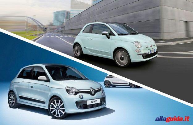 confronto Fiat 500 nuova Renault Twingo