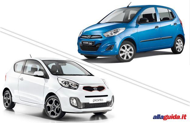 confronto Kia Picanto vs Hyundai i10