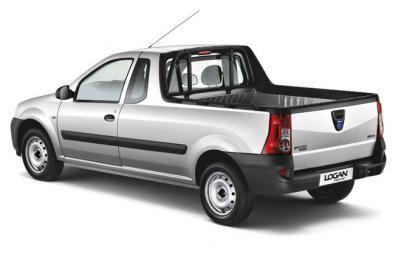 Vista posteriore della nuova Dacia Logan pick up