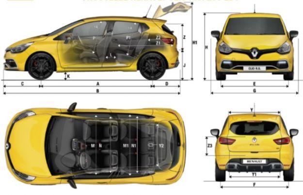dimensioni Renault Clio RS Monaco GP