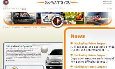 Il sito della Fiat 500 attaccato da un haker