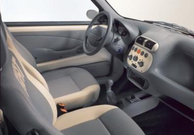 Gli interni della Fiat 600 nella versione più accessoriata