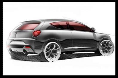Bozzetto Alfa Romeo Junior