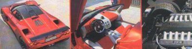 Lavazza GT-XV12 5.3, particolare motore ed interni