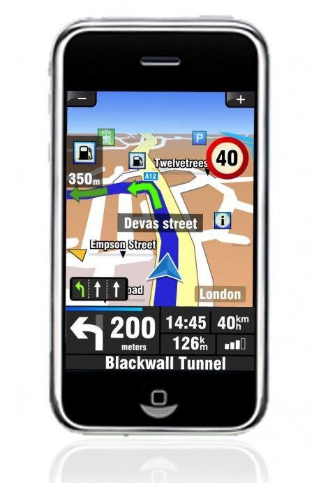 navigatore gps auto iphone