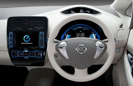 nissan leaf interno