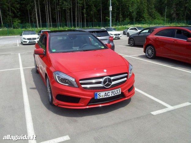 nuova mercedes classe a 2012 rossa