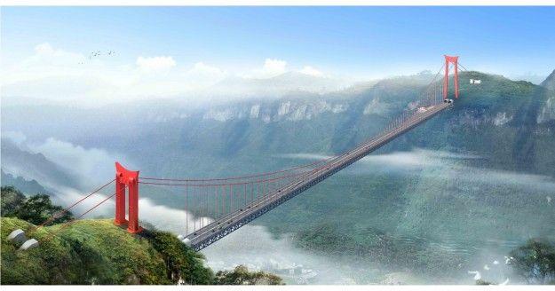 ponte aizhai dallalto