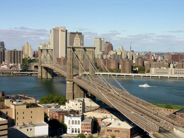 ponte di brooklyn dallalto