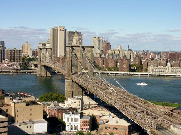 ponte di brooklyn dallalto