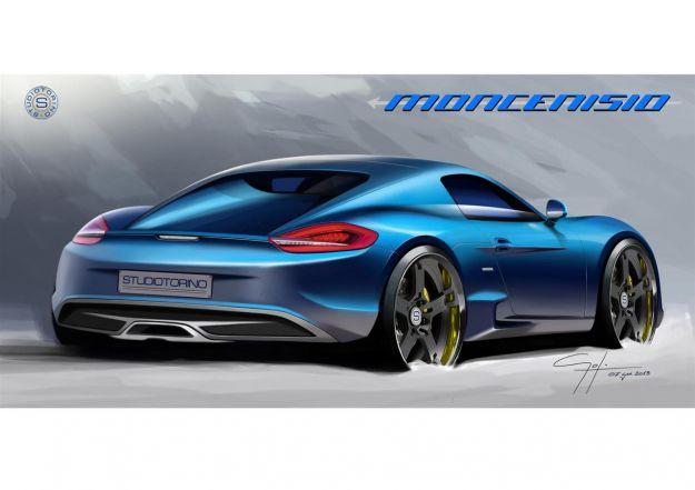 posteriore Porsche Cayman Studiotorino Moncenisio